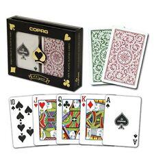 Copag Bridge Size Regular Index 1546 Playing Cards (Green Burgundy) New
