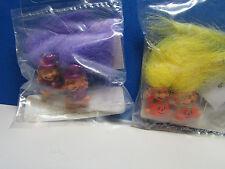 """Two Pair New Halloween Earrings - 1/2"""" Troll Dolls- Unknown Maker"""