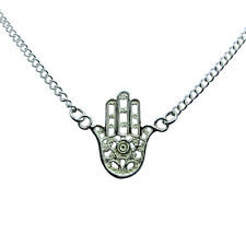 Sterling  Silver  925   Hand  Of  Fatima  Chain  Necklace   !!         New  !!
