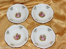 4 WINTERLING LOVE STORY SMALL FRUIT BOWLS FRAGONARD COURTSHIP W GERMANY ROMANTIC
