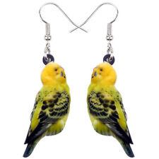 Acrylic Budgerigar Parrot Bird Earrings Drop Animal Jewelry For Women Girl Charm