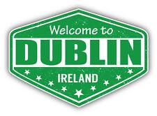 "Dublin City Ireland Grunge Travel Stamp Car Bumper Sticker Decal 5"" x 4"""