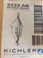 Kichler Lighting 3232 AB Dover Collection 3-Light Hanging Pendant Antique Brass