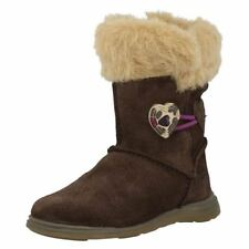 Clarks Suede Boots Medium Width Shoes for Girls