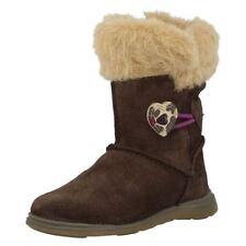 Clarks Suede Medium Width Shoes for Girls Zip