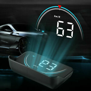 """3.5"""" Head Up Display Over Speed Warning System Portable HUD Projector Speedometer"""