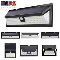 12-118 LED Solar Powered Motion Sensor Light Outdoor Garden Waterproof Wall Lamp