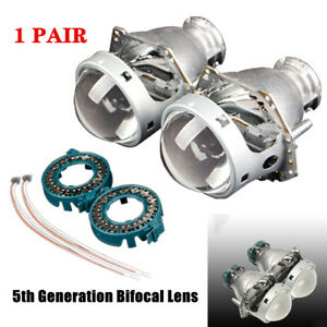 "1Pair 3"" Car Auto Dual-lens Low Beam and High Beam Headlights Universal Light"
