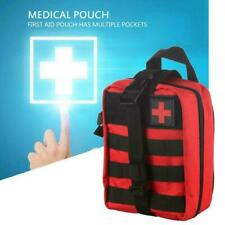 Tactical First Aid Kit Survival Molle Rip-Away EMT Red Pouch Bag Outdoor Me K4H9