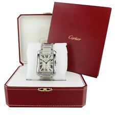 CARTIER Tank Anglaise XL Steel Automatic Mens W5310008 Complete 2018
