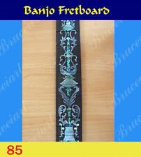 Free Shipping, Banjo Part - Rosewood Slotted Fretboard w/MOP Art Inlay (85-S)