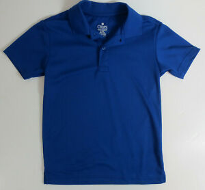 Chaps Polo Shirt School Approved Performance Boys Size 8 Blue Short Sleeve