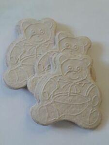 20 oursons embellissements en papier cartonné 5 cm x 4.5 cm environ beige