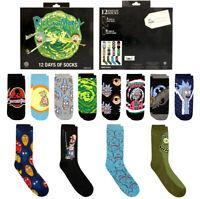 Rick and Morty Socks Advent Christmas Calendar 12 Days Gift Set Mens Size 6-12