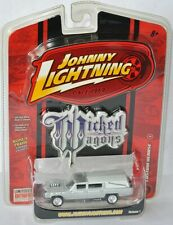 Wicked Wagons - CUSTOM HEARSE - silber-white/ghostflames - 1:64 Johnny Lightning