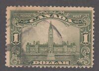 "Canada Scott #159  $1.00 olive green Parliament Building ""Scroll""  F"