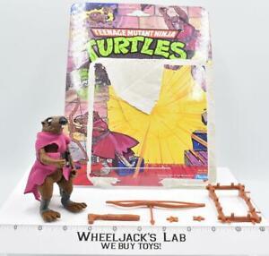 Splinter 100% Complete W/Card 1988 TMNT Teenage Mutant Ninja Turtle Playmates