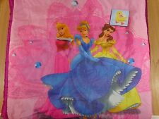 DISNEY PRINCESS Sleeping Bag Purple Pink Pillow Pocket Cinderella Aurora Belle