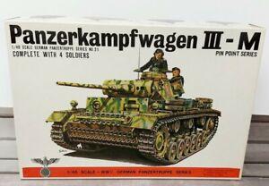 Bandai Panzerkampfwagen III-M WWII Panzertruppe Series No. 21 1/48 Scale NOB