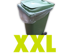 More details for clear heavy duty wheelie bin bags liners rolls refuse sacks uk made strong large