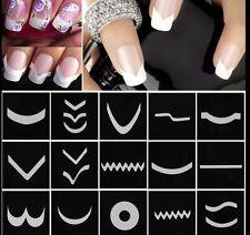 15Pcs/Set Nail Art Transfer Stickers 3D Design Manicure Tips Decal Decoration EF