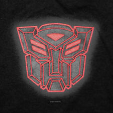 Transformers Logo T-Shirt Large Autobots Red Embossed Rubber Hasbro