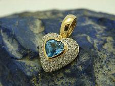 Reinheit SI Echte Diamanten-Halsketten & -Anhänger aus mehrfarbigem Gold mit Herz