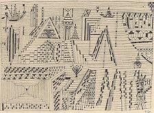 Paul Klee encadré signé à la plaque abstraite collotype Ville Par L'Eau