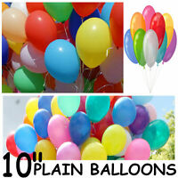 25 -100 PLAIN ROUND Balloons Birthday Wedding Baby Shower Party Latex baloons