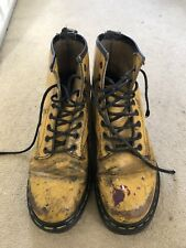 Vintage Yellow Dr Martens Made In England Size 6 Well Worn