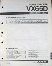 Yamaha VX65D Guitar Amplifier Original Service Manual Schematics Parts List Book