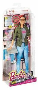 2016 Mattel Barbie Careers Game Developer Doll DMC33 NRFB