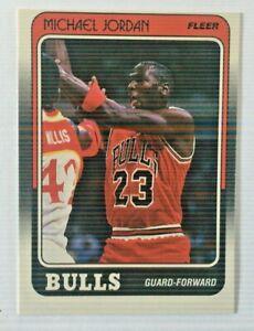 1988 Fleer Basketball Card #17 Michael Jordan Chicago Bulls
