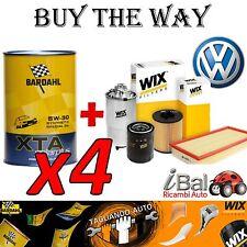 VW UP 1.0 BENZINA KIT TAGLIANDO FILTRI WIX + OLIO XTA 5W-30 BARDAHL 4LT