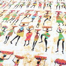 African Women Linen Cotton Fabric Patchwork Linen Material 1 Yard