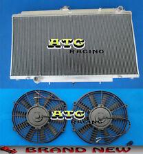 Aluminum Radiator for Nissan Patrol Y61 GU 4.2L Diesel & Turbo TD42 + 2* Fans