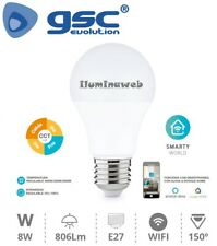 Bombilla inteligente Led Wifi 8w RGB + Intesidad+color Regulable 2700-6500k app