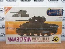 Cyber Hobby 9156 M4A3 (75) W Weld Hull w/ logs and backpacks model kit 1/35