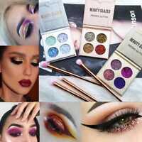 Pro 4 Colors Shimmer Eyeshadow Makeup Matte Eye Shadow Glitter Palette Co Gift