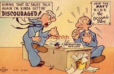 Gimme That Ol' Sales Talk I'M Kinda Gittin Discouraged! H H Hutson Illus Navy