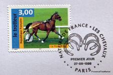 CHEVAL LE TROTTEUR  FRANCE  Yt 3183 OBLITERATION 1er JOUR NOTICE PHILATELIQUE