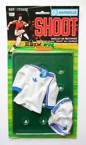 Shoot Meccano Football outfit Olympique Marseille FC. For Action Man figure 1978