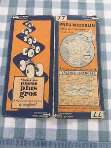 Ancienne Carte Michelin 1929 N°77 Valence/grenoble 1/200 000