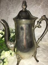 Vintage Silver-Plated Coffee Tea Chocolate Pot Pitcher With lid