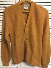 Vtg New 1960's Brienshire Mohair Worsted Wool Cardigan Sweater USA Men's M