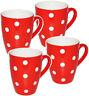 """Tasse à Café / Henkel - """" Points - Rouge & Blanc """" - Grand - 300 ML - Céramique"""