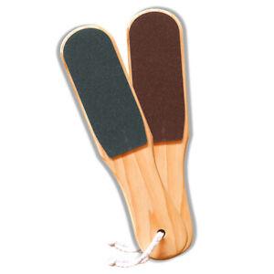 1x Wood Double-sided Beauty Foot Rasp File Board Remove Dead Skin Pedicure Kits