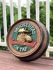 Vintage Moosehead Canadian Lager On Tap Beer 3D Bar Barrel Head Sign Mancave
