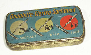 Ancienne Gramophone Boîte à Aiguille Ondulette Electro Assortiment