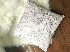 MARBLE PURPLE WHITE SILVER METALLIC THROW DECORATIVE SQUARE PILLOW 20 x 20
